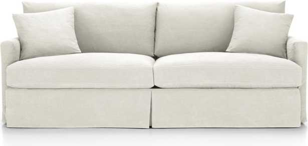 "Lounge II Petite Slipcovered 93"" Sofa - Crate and Barrel"