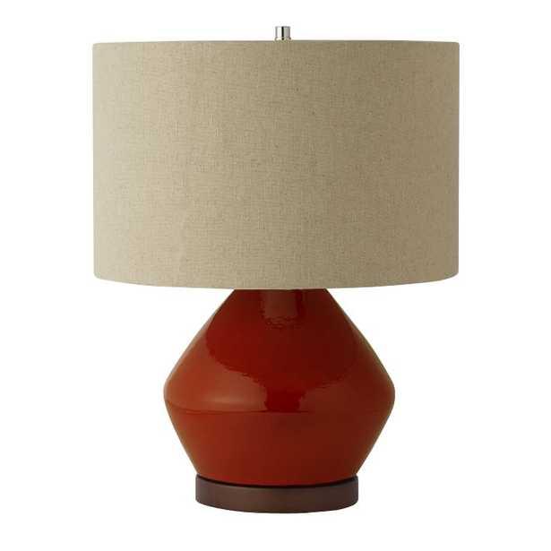 Mia Table Lamp - Paprika - West Elm