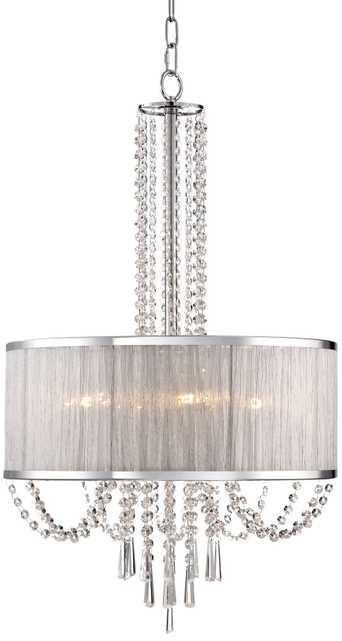 "Ellisia 19 3/4"" Wide Crystal Chandelier - Lamps Plus"