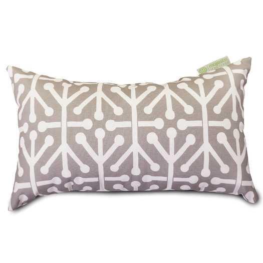 """Aruba Lumbar Pillow - Gray - 20"""" W x 12"""" D - Polyester fiber fill - AllModern"""