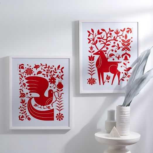 Tad Carpenter Print - Red Field - West Elm