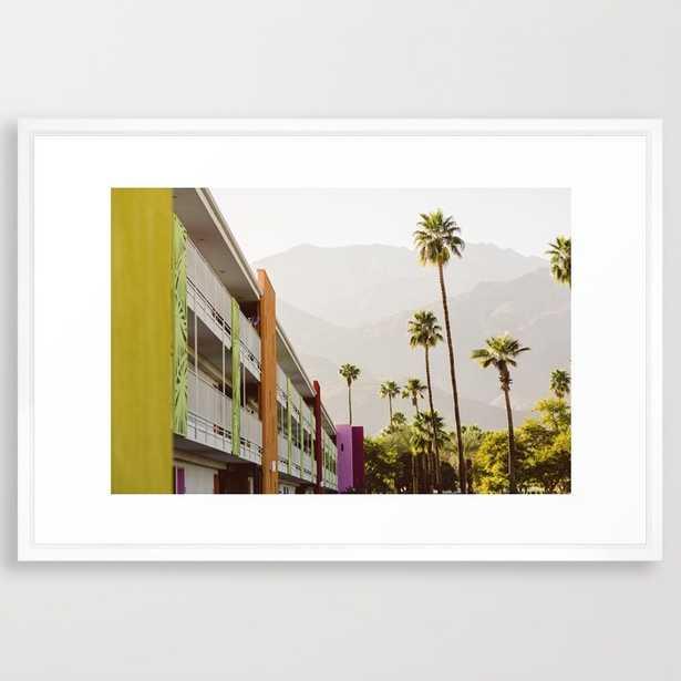"Saguaro Hotel Palm Springs-38"" X 26""-Framed - Society6"