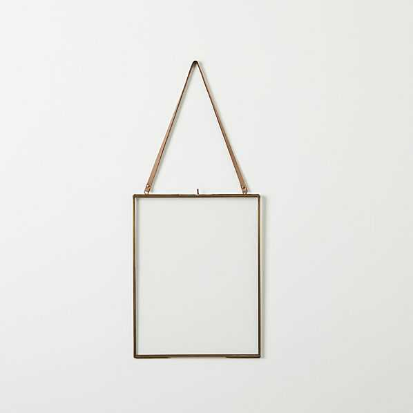 brass floating  picture frame - CB2