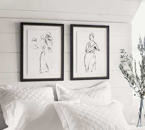 Gestural Figural Sketches Wall Art - Set of 2 - Pottery Barn