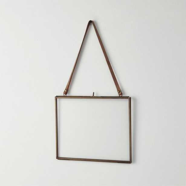 Brass floating 5x7 picture frame - CB2