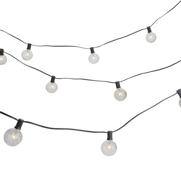 Cut glass string lights - CB2