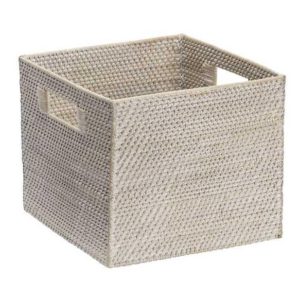 Modern Weave Storage Bin - Whitewash - West Elm