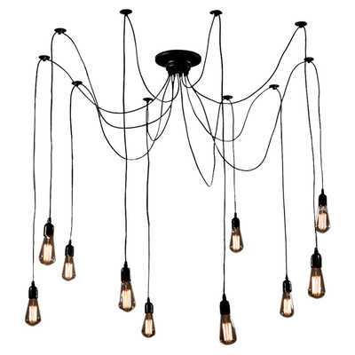 Cora 10 Light Cluster Chandelierby Warehouse of Tiffany - Wayfair