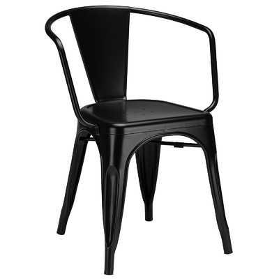 Trattoria Arm Chair - set of 2,  Black - Wayfair
