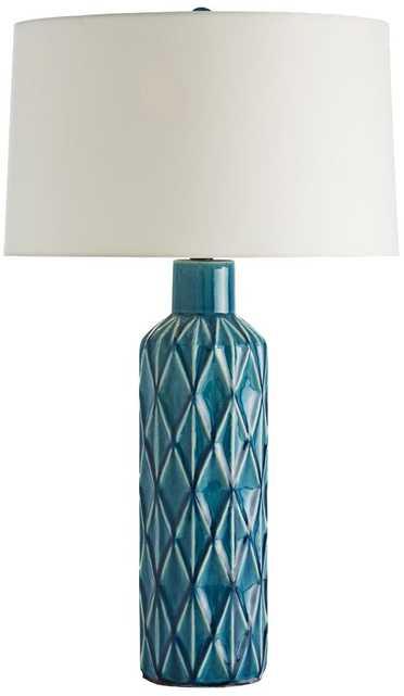 Arteriors Home Nevada Diamond Aqua Table Lamp - - Lamps Plus