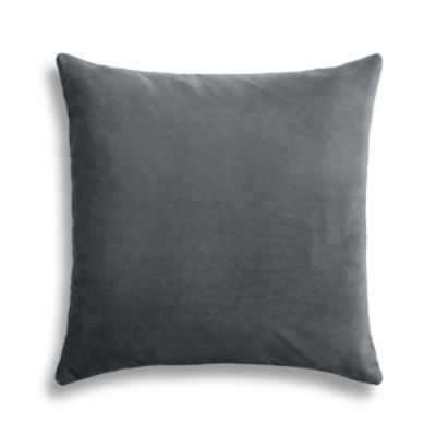 "Warm gray velvet throw pillow - 20"" x 20"" - Down Insert - Loom Decor"