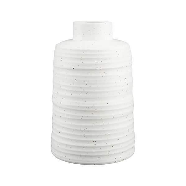 Holden Vase - White - Crate and Barrel