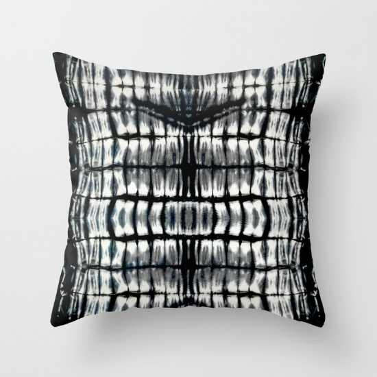 """Shibori-THROW PILLOW/INDOOR COVER (18"""" X 18"""") WITH PILLOW INSERT - Society6"""