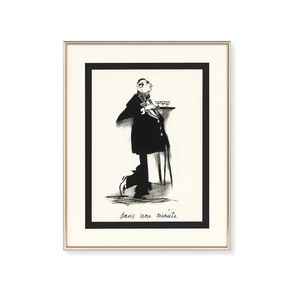 "Waiter Wall Art- 12"" x 15""-Framed - Williams Sonoma Home"