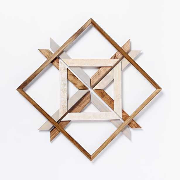 Mid-Century Abstract Snowflake Wall Art - Diamond - West Elm