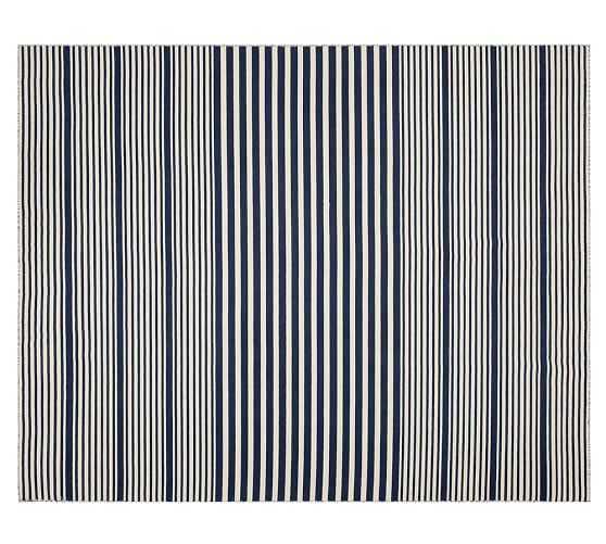 Kyle Stripe Hand-Loomed Rug - 8 X 10' - Pottery Barn