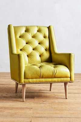 Premium Leather Booker Armchair - Anthropologie