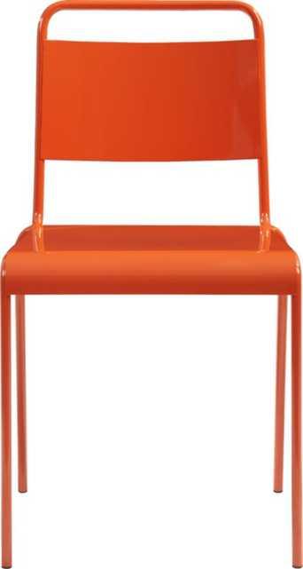 lucinda orange stacking chair - CB2