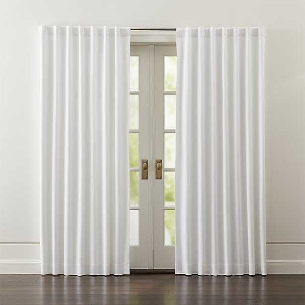 """Wallace White Blackout Curtains - 84""""L - Crate and Barrel"""