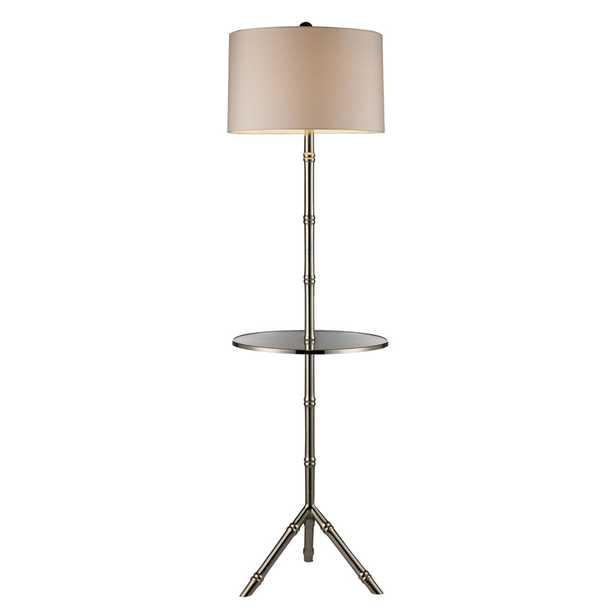 D* STANTON 1-LIGHT FLOOR LAMP WITH GLASS TRAY - Rosen Studio