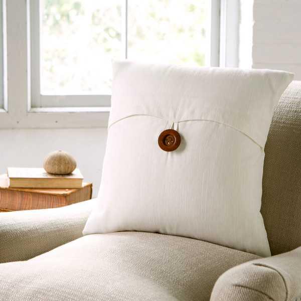 Lena Pillow Cover - White (No insert) - Birch Lane