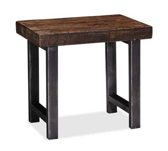 Griffin Reclaimed Wood Side Table - Pottery Barn