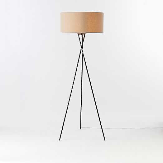 Mid-Century Tripod Floor Lamp - Antique Bronze - West Elm