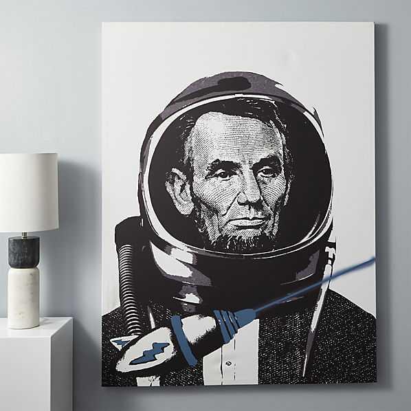 "Lincoln spaceman print-40""x53""-Unframed - CB2"