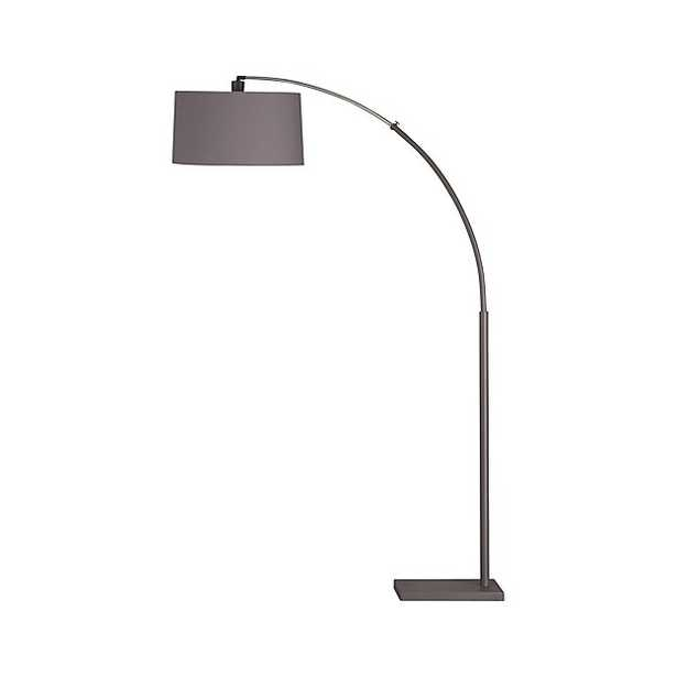 Dexter Arc Floor Lamp with Grey Shade - Crate and Barrel