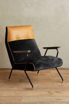 Slub Velvet Quentin Chair - Anthropologie