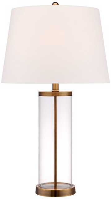 Glass and Gold Cylinder Fillable Table Lamp - Lamps Plus