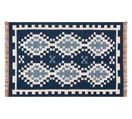 Alameda Indoor/Outdoor Rug - Blue - 5 X 8' - Pottery Barn