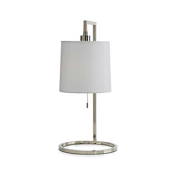 Carlisle Nickel Table Lamp - Crate and Barrel