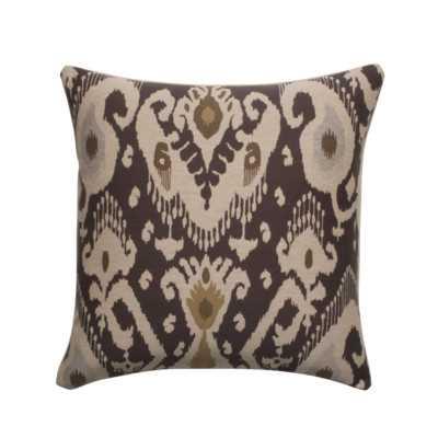 Ikat Designer Filled Woven Throw Pillow - Brown - 18sq. - Polyester/Polyfill; Eco-fill insert - Wayfair