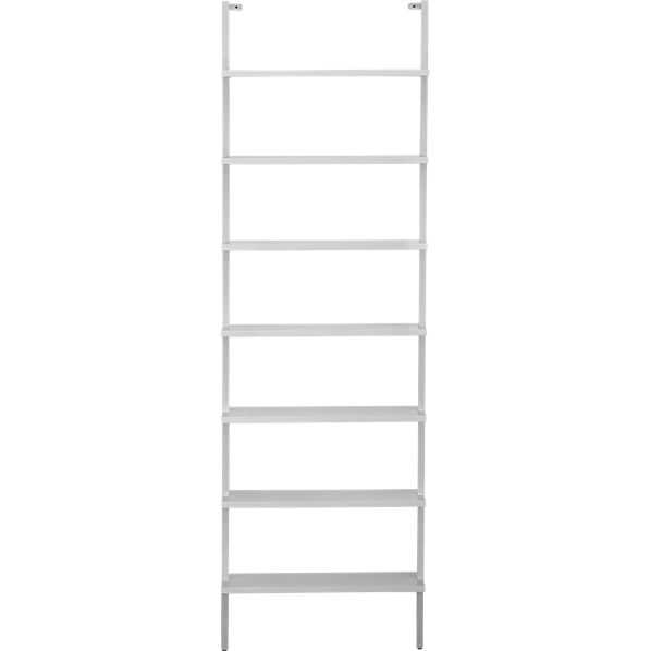 """Stairway Wall Mounted Bookcase - White - 96"""" - CB2"""