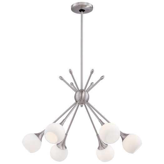 Pontil 6 Light Chandelier - Brushed Nickel - AllModern