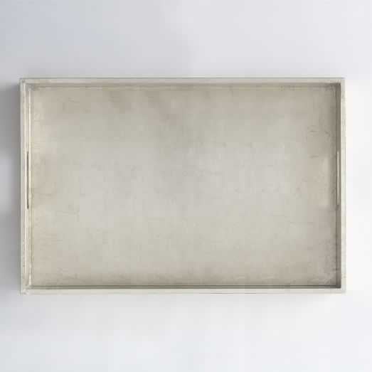 Large Rectangle Lacquer Trays - Silver Lacquer - West Elm