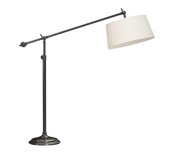 Chelsea Sectional Floor Lamp - Bronze - White Linen Shade - Pottery Barn