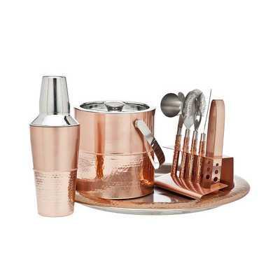 9 Piece Copper Bar Set - Wayfair