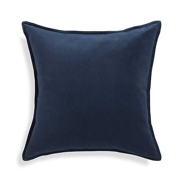 Brenner Blue Pillow - Crate and Barrel