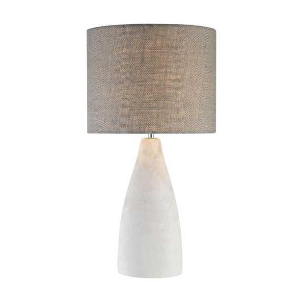 Rockport 1 Light Table Lamp In Polished Concrete - Rosen Studio