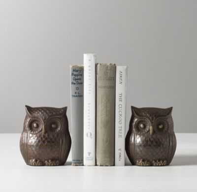 owl bookends - set of 2 - RH Baby & Child