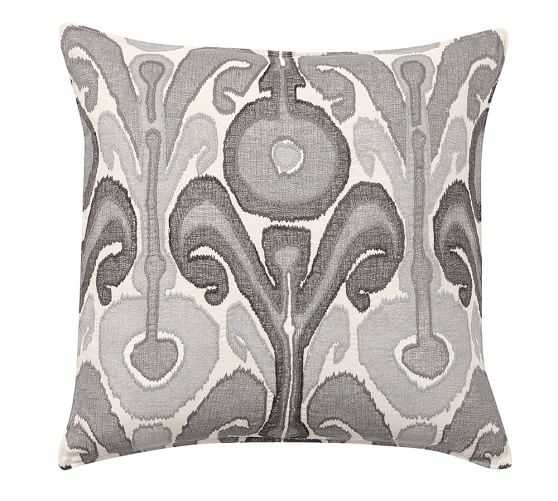 KENMARE PILLOW COVER - Gray - 24sq - Insert Sold Separately - Pottery Barn
