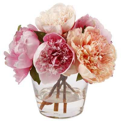 Peony in Glass Vase - Wayfair