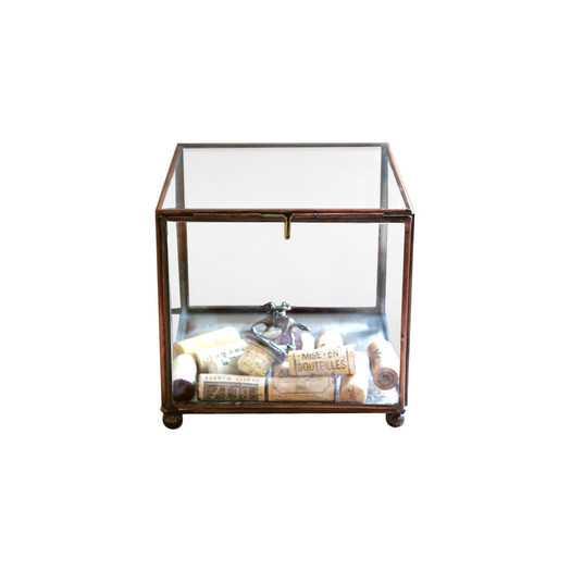 Sonoma Square Brass and Glass Display Box - AllModern