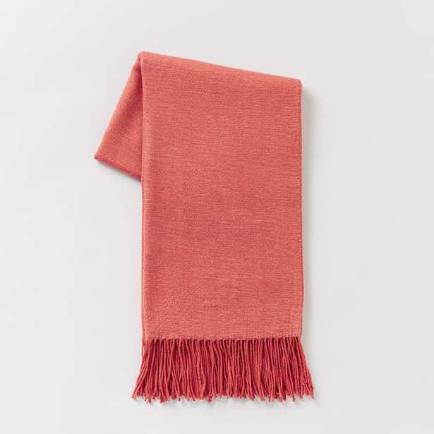 Warmest Throw - Yarn Dyed - Poppy - West Elm
