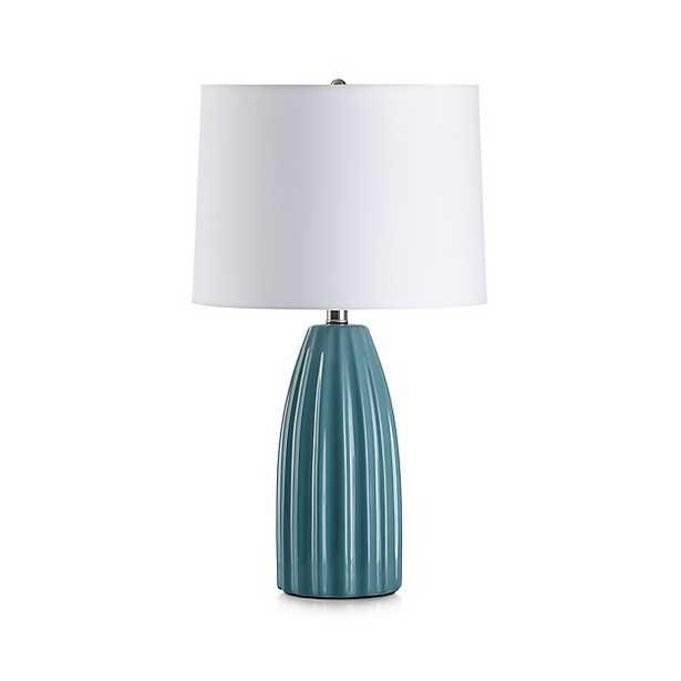 Ella Aqua Table Lamp - Crate and Barrel