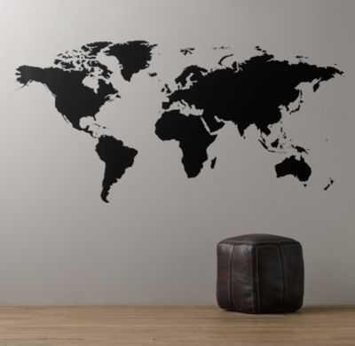 "World map chalkboard decal - 8"" - RH Baby & Child"