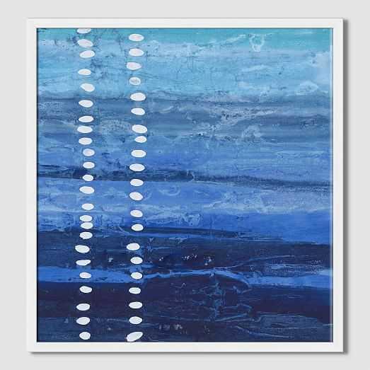 "Sarah Campbell - Blue Strokes -  30""x 36"" - Corona - West Elm"