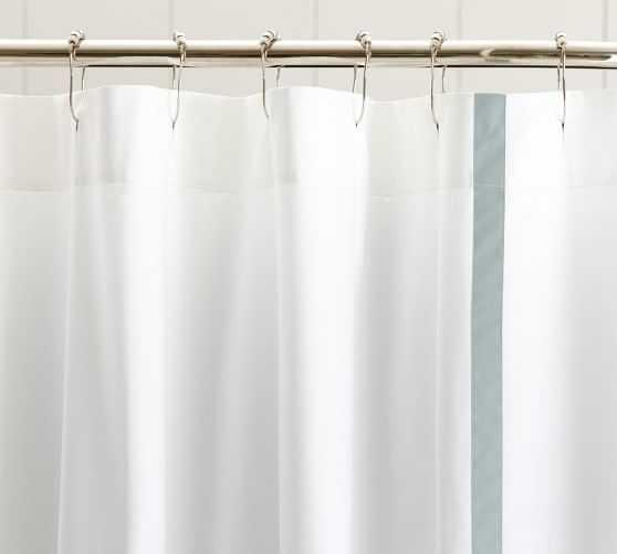 Morgan Shower Curtain - Dark Porcelain Blue - Pottery Barn